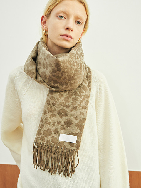LEOPARD MUFFLER (BROWN)